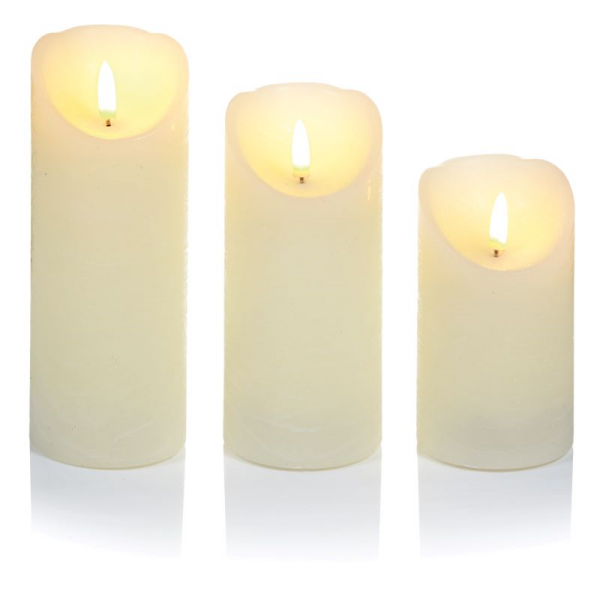 LED Candles - Flicker Flame set of 3