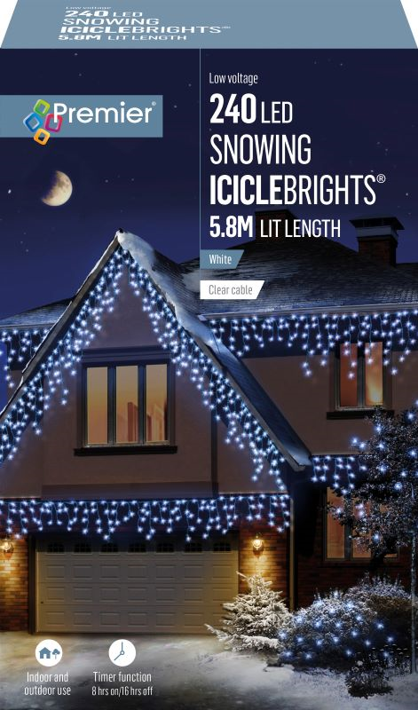 Snowing Icicles Lights 240 WAS £34.99 NOW £29.99