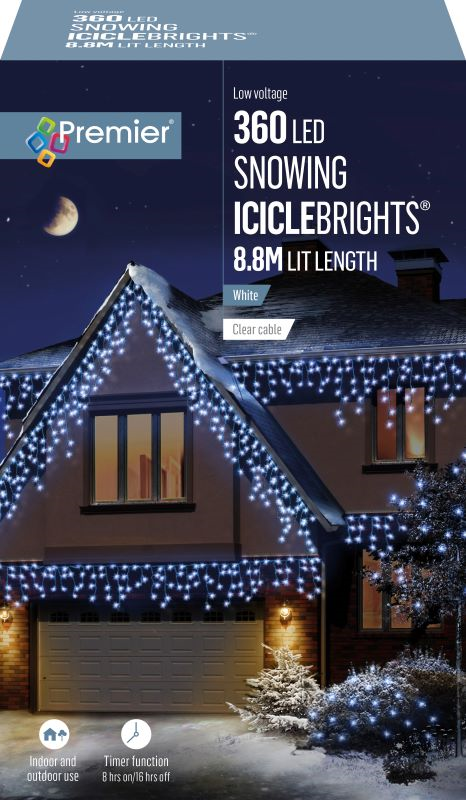 Snowing Icicles Lights 360 WAS £44.99 NOW £39.99