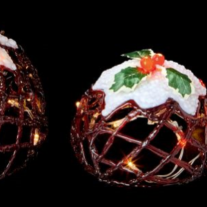 Acrylic Christmas Puddings Lights