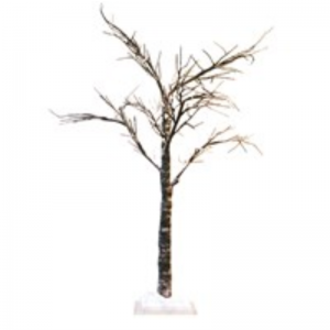 Snow Covered Spiky Twig Tree by Gisela Graham