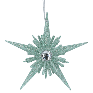 Pale Green Star decoration with diamond