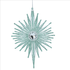 Green Starburst decoration with diamond