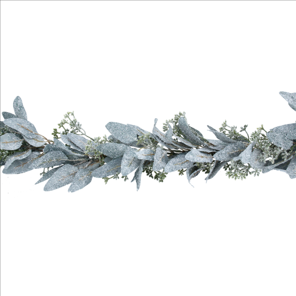 Frosted Eucalyptus Leaf Garland with Mini Berries