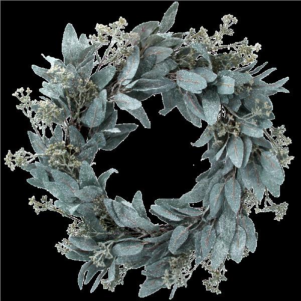 Frosted Eucalyptus Leaf Wreath