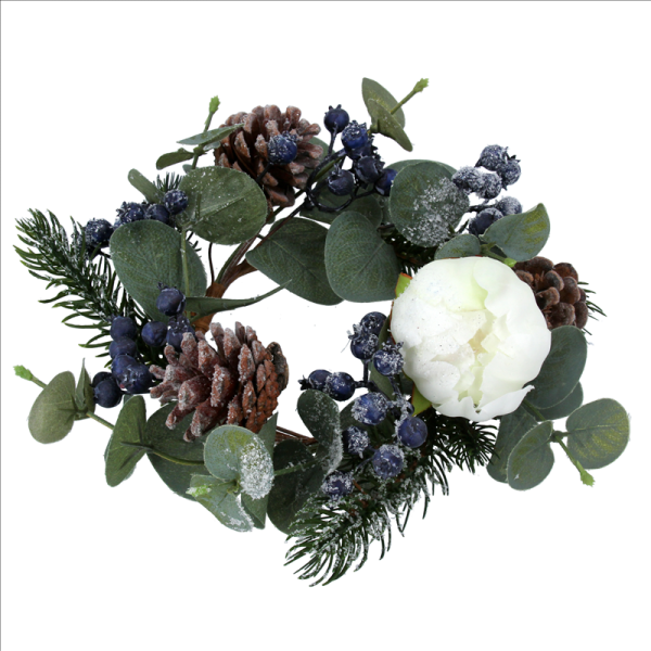 Eucalyptus and Pinecone Candle Ring