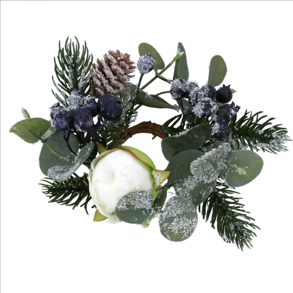 Eucalyptus and Blueberry Candle Ring