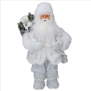 Faux Fur Santa with Sack Ornament