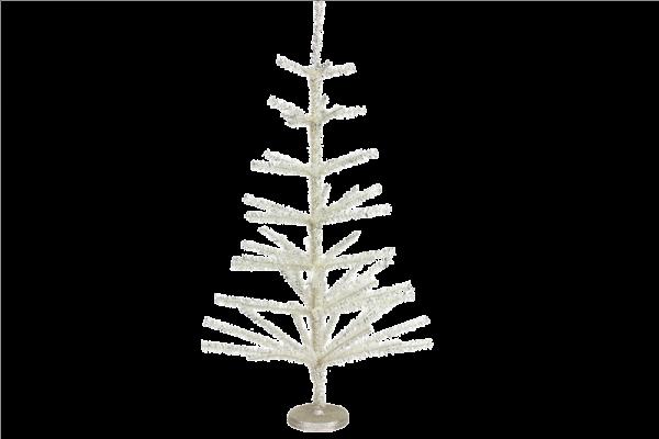 Silver Tinsel Spiky Tree