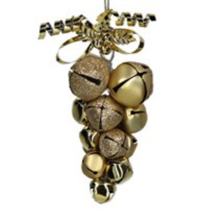Gold Metal Jingle Bell Cluster