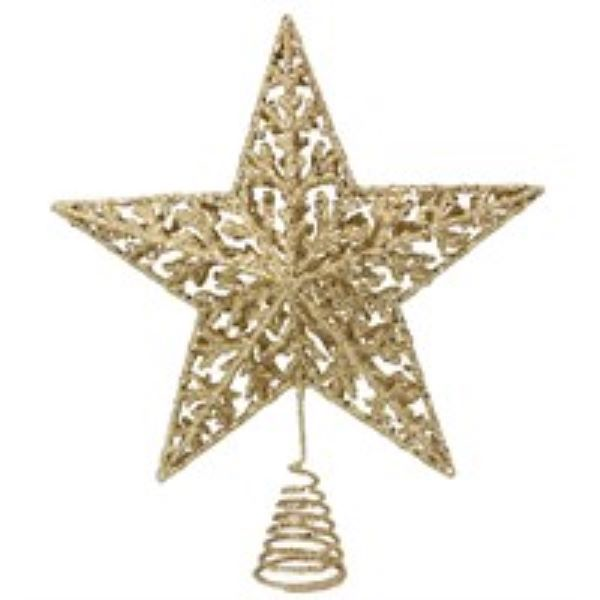 Gold Glitter Star Tree Topper