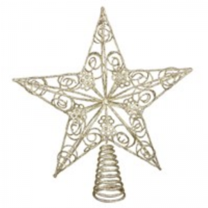 Gold Wire Star Tree Topper