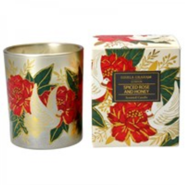 Doves and Roses Boxed Candle