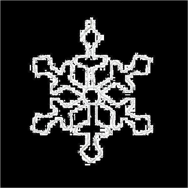 Micro LED Snowflake