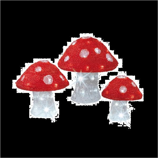 LED Acrylic Mushrooms