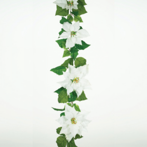 Velvert Poinsettia Garland