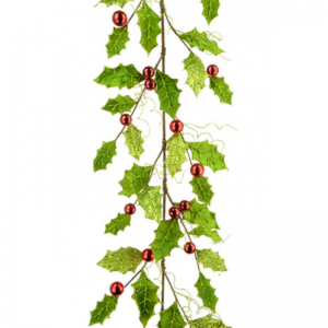 Holly Bauble Garland