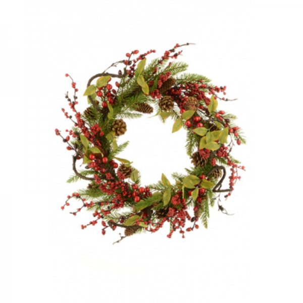 Twig,Pine and Berry Wreath
