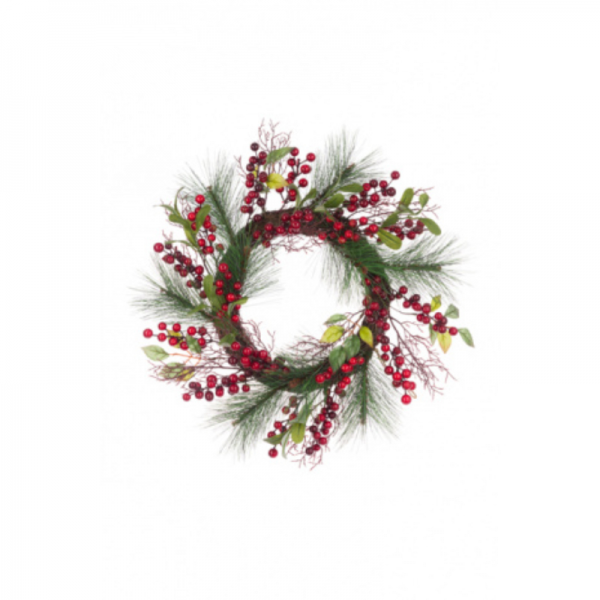 Berry Pine Twig Wreath