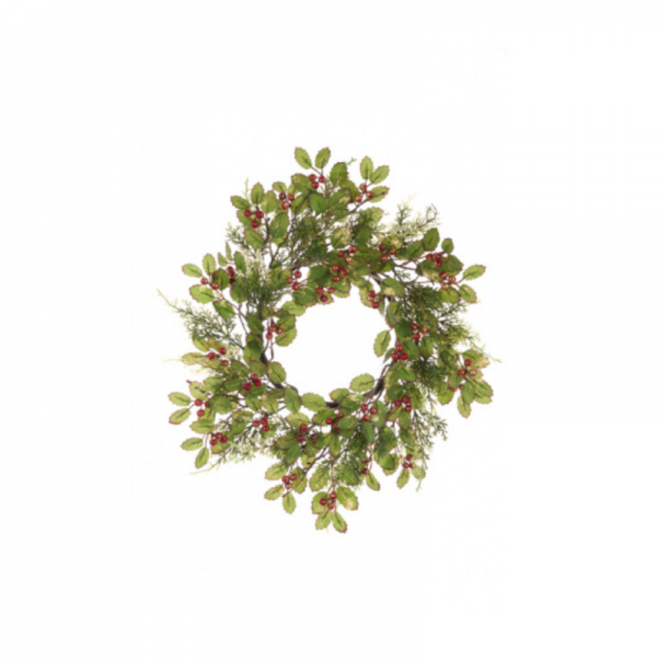 Glitter Holly Candle Ring