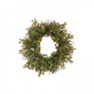 Glitter Holly Wreath