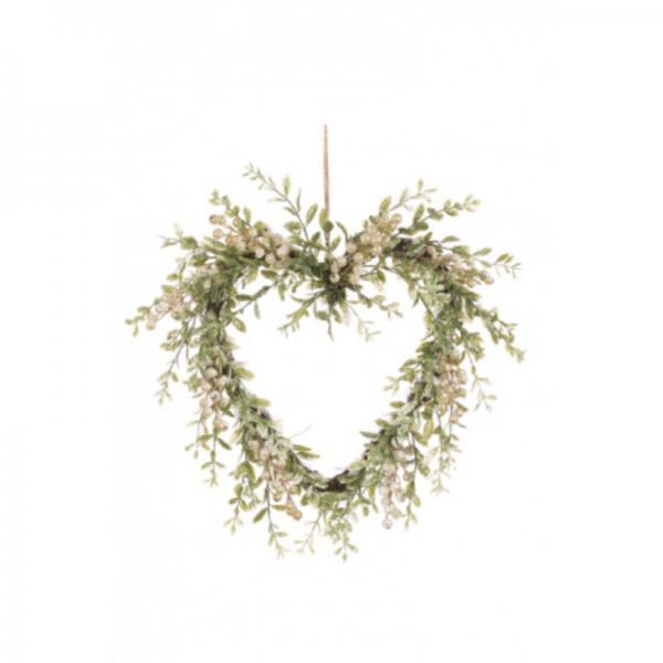 Sparkle Berry Heart Wreath