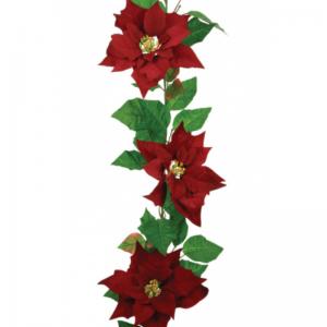 Velvet Poinsettia Garland