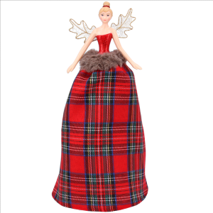 Tartan Tree Top Fairy Large