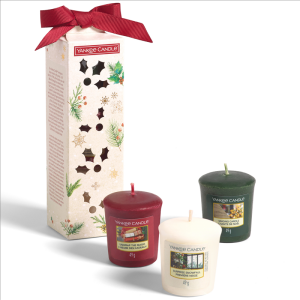 3 Votive Candle Gift Set