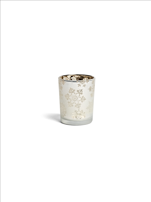Snowflake Frost Tea Light Votive Holder (Small)
