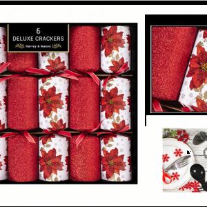 Deluxe Poinsettia Cracker 6