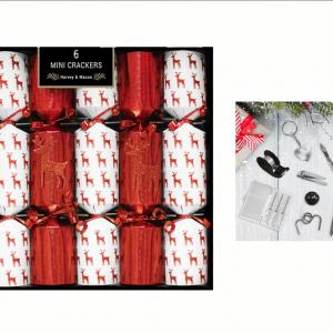 Mini Red Reindeer Crackers 6