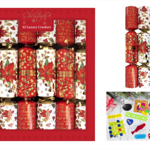 Lux Poinsettia  Crackers