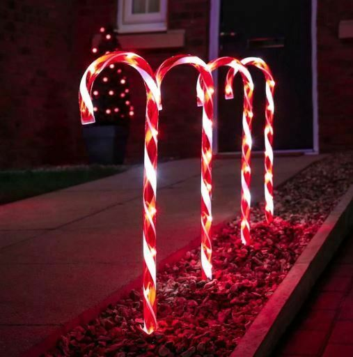 Candy Cane Path Lights Red WAS £19.99 NOW £14.99