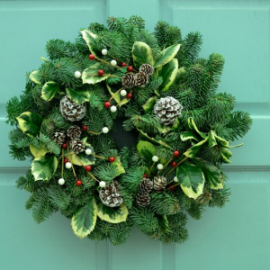 Holly Wreath - 10 inches