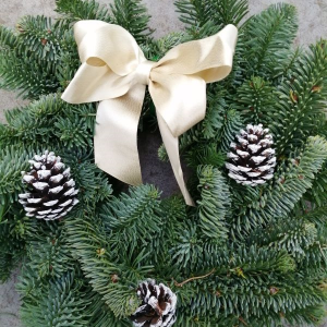 Classic Gold and Pine Cones Wreath - 8 inches