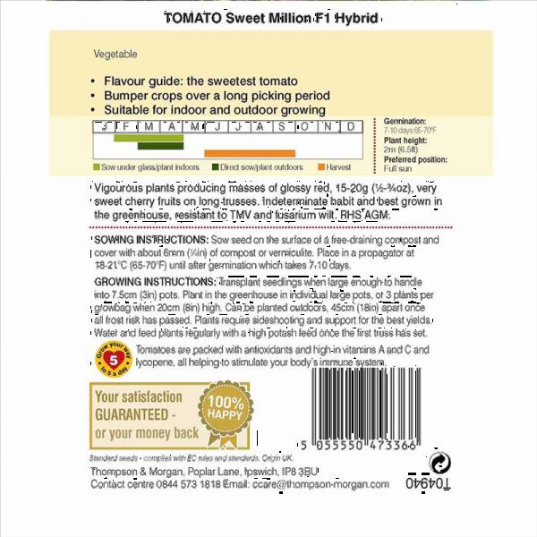 Tomato Sweet Million F1