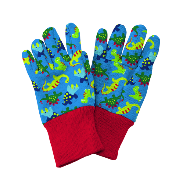Dinosaur Kids Gloves Blue