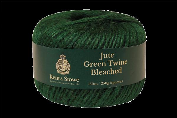 Jute Twine Bleached Green 150m 250g