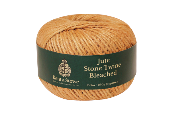 Jute Twine Bleached Stone 150m 250g