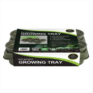 Bio-Based Growing Tray Pack of 6 x 12cm pots