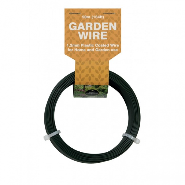 50m Garden Wire 1.2mm Plastic Coated