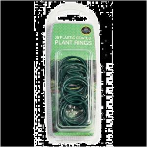 Plastic Coated Plant Rings (25)