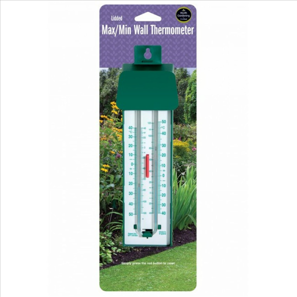 Lidded Max/Min Wall Thermometer