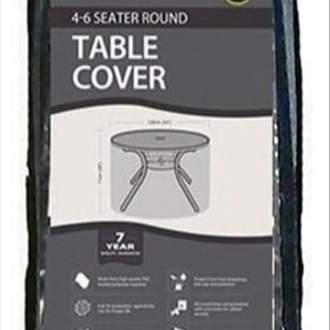 4-6 Seater Round Table Cover, Black