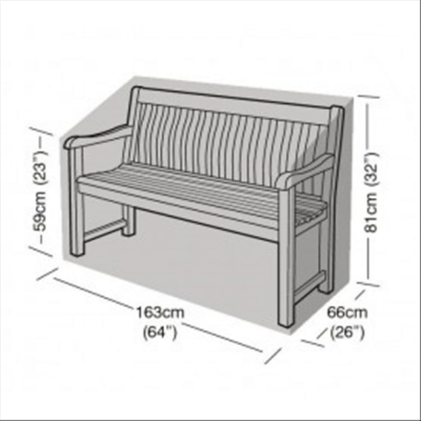 3 Seater Bench Cover, Black
