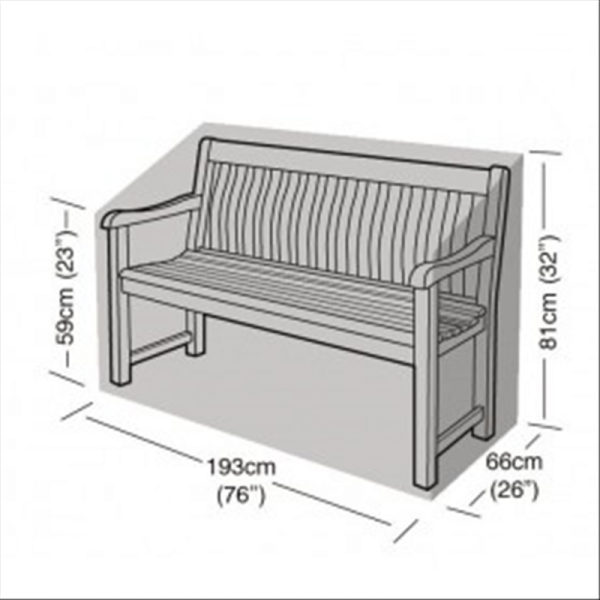 3-4 Seater Bench Cover, Black