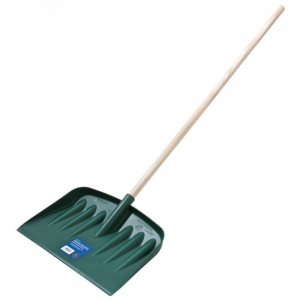 Snowshovel with Wooden Handle Green