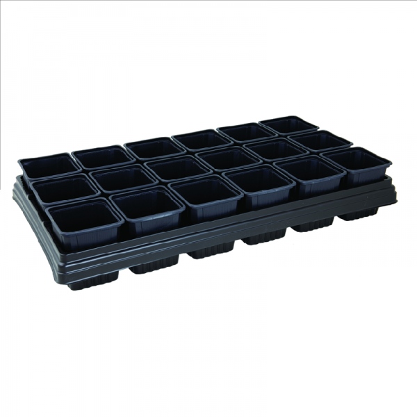 Growing Tray with 18 Square Pots