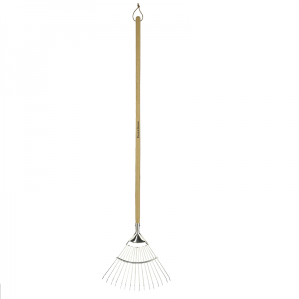 Stainless Steel Long Handled Lawn & Leaf Rake